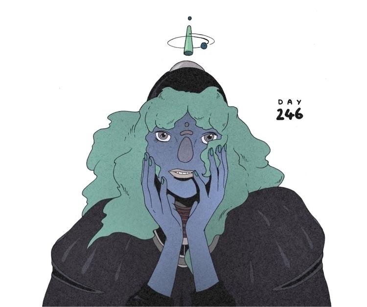 Day 246/365: Deep Blue - illustration - 1sles | ello