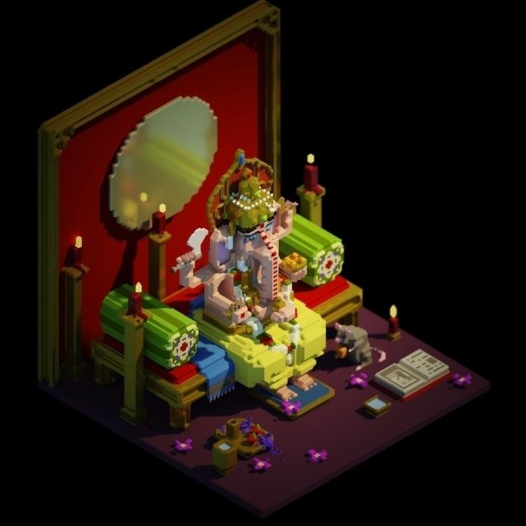 Lord Ganesh - magicavoxel - brucedeloeste | ello