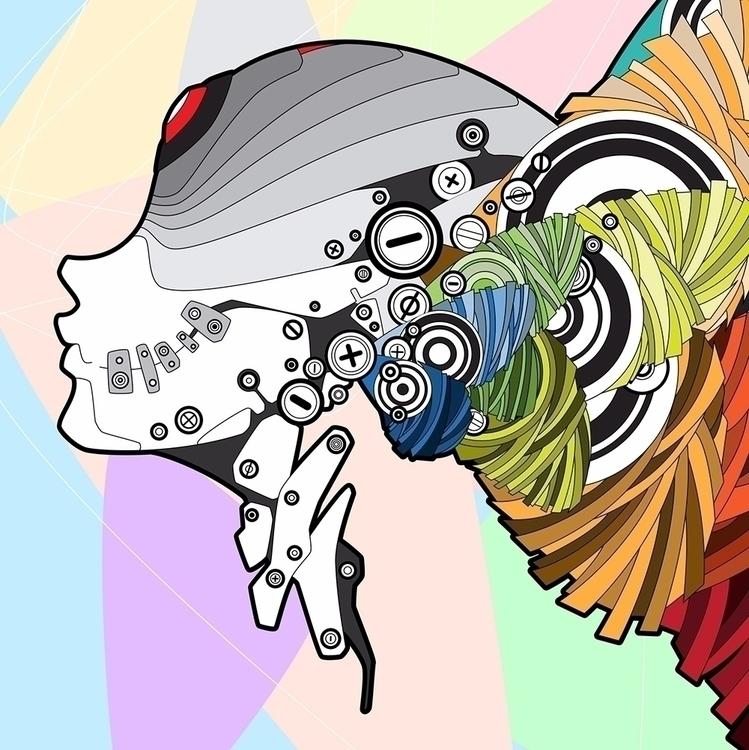 Butterfly - cyberpunk, vector, art - dettidkun | ello