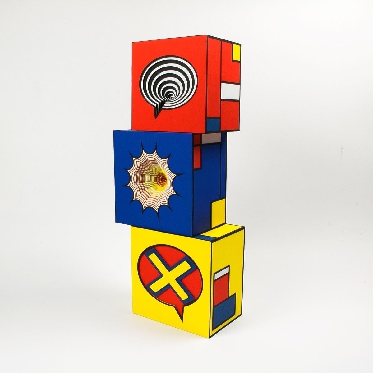 Interactive Mondrian comic boxe - hampusha | ello