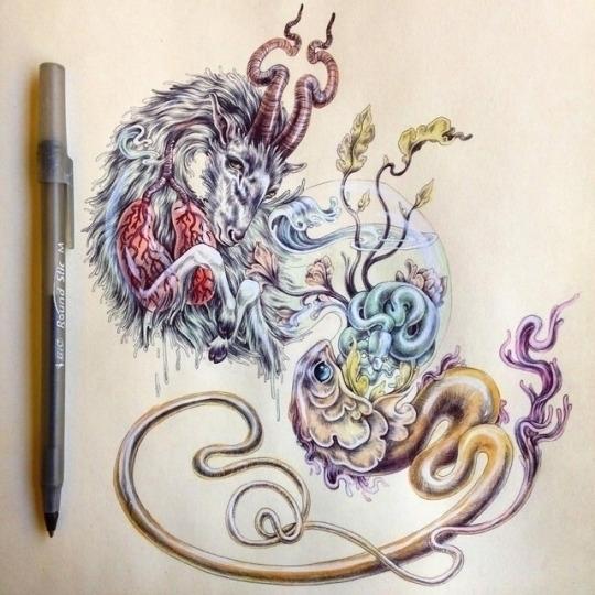 ballpoint pen sketchbook drawin - kitmizeresart | ello