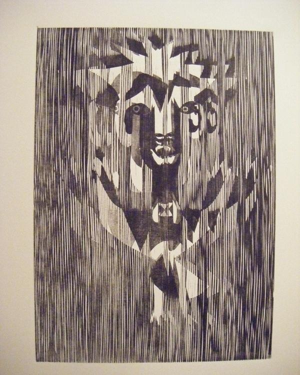 Woodcut Intermezzo 1 - woodcut, xylography - microsteve   ello