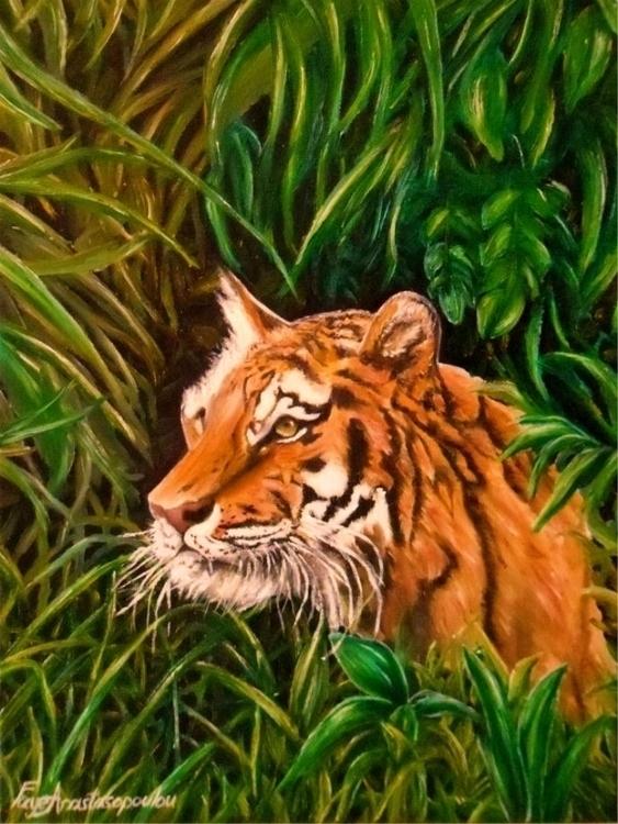 painting, art, prints, tiger - fayeanastasopoulou | ello