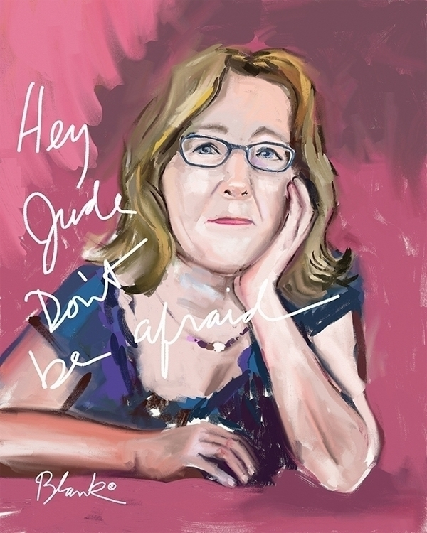 Hey Jude. afraid - portrait, artist - cliffblank | ello