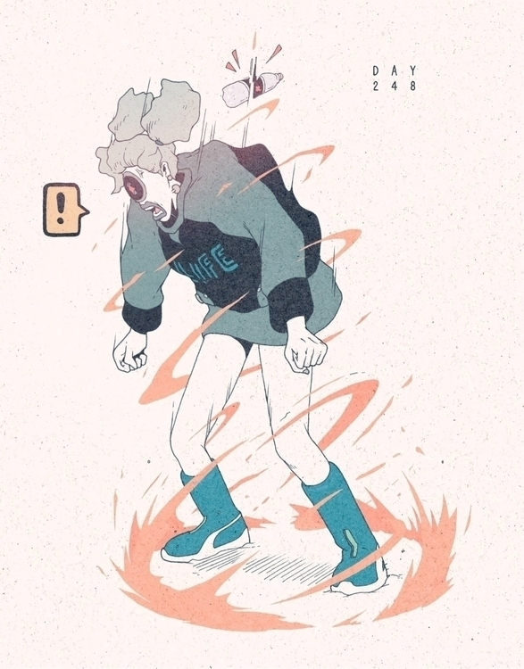 Day 248/365: Charged - illustration - 1sles | ello