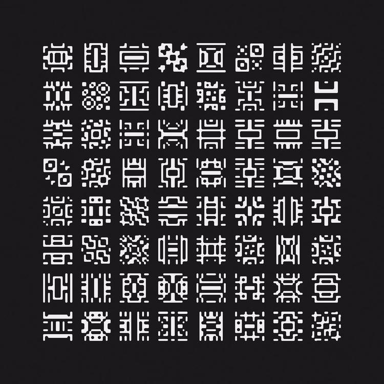 symbols. Generated FilterForge  - yuyatakeda | ello