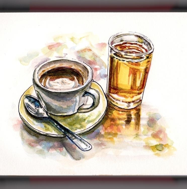 Writing Mystery - watercolor, watercolour - doodlewash | ello
