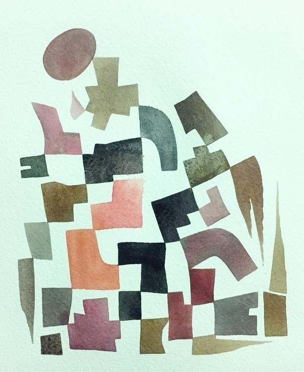 Thrown, watercolor, 10 8 - mikebiskup | ello