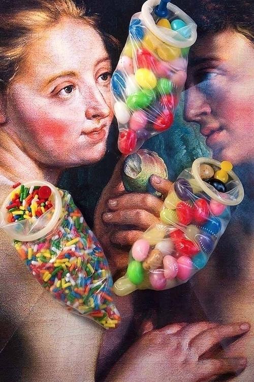 Sweet Sex - candy, condom, sex - zeren   ello