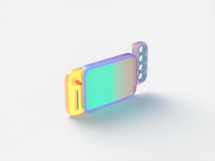 Nintendo - design, switch, 3d, render - chengtaoyi   ello