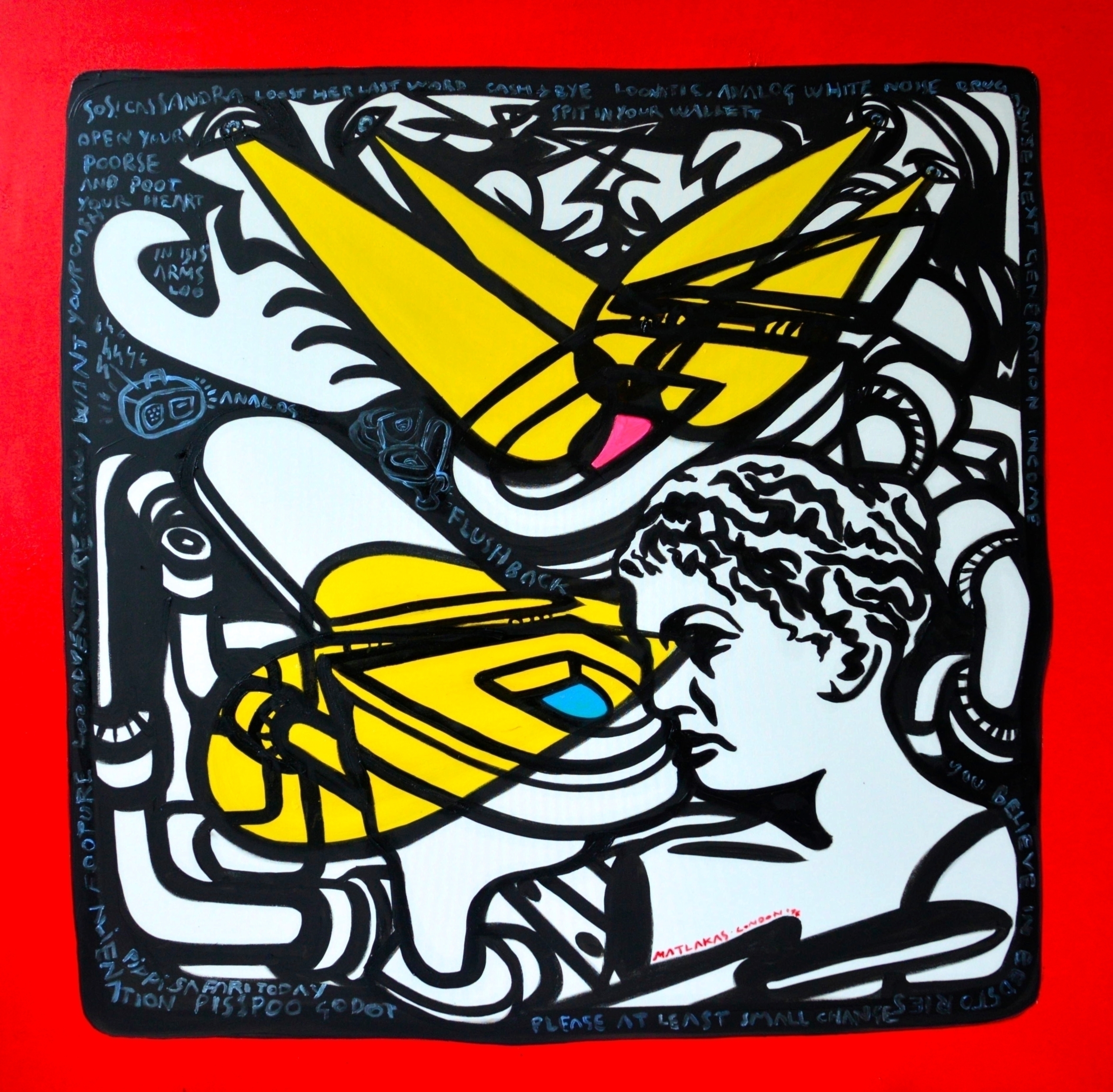 100x100cm, oil canvas, London,  - matlakas | ello