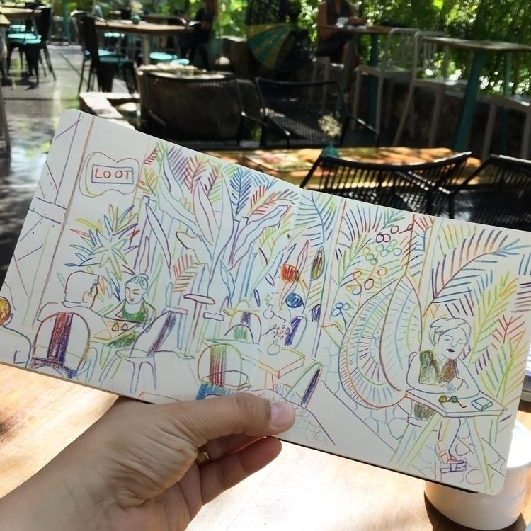 happy place - lootzihuatanejo, illustration - chenreichert | ello