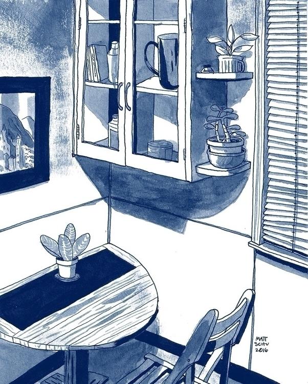 Kitchen - art, drawing, illustration - mattschu   ello