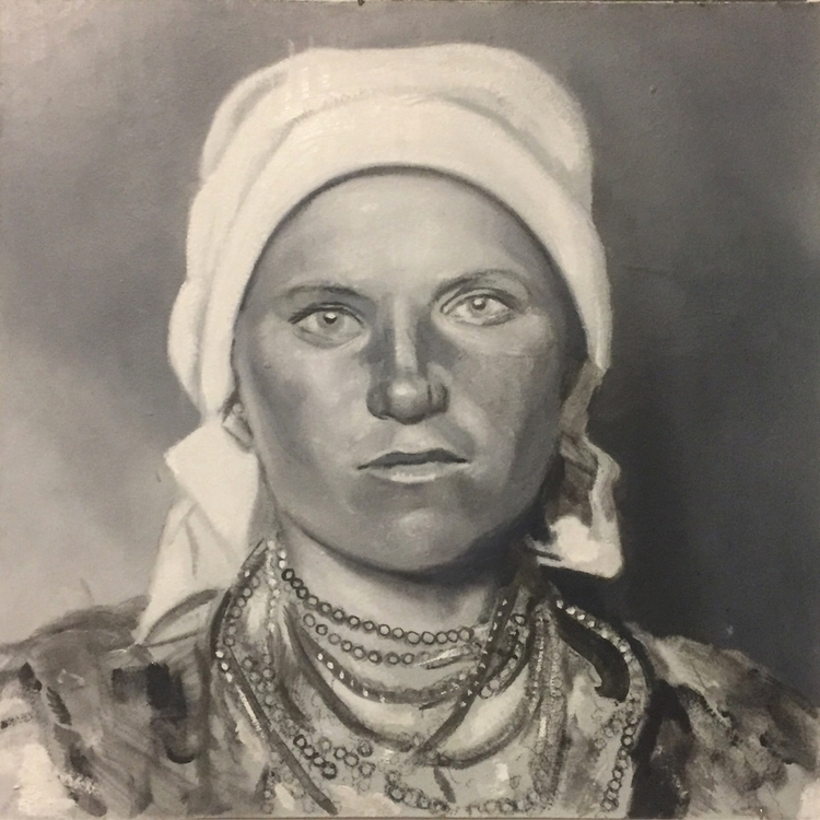 paint, portrait, gypsy - zimbro | ello