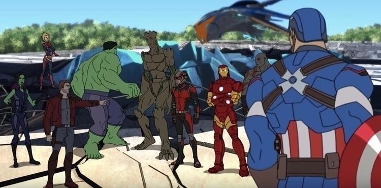 Avengers invade Guardians Galax - bonniegrrl | ello