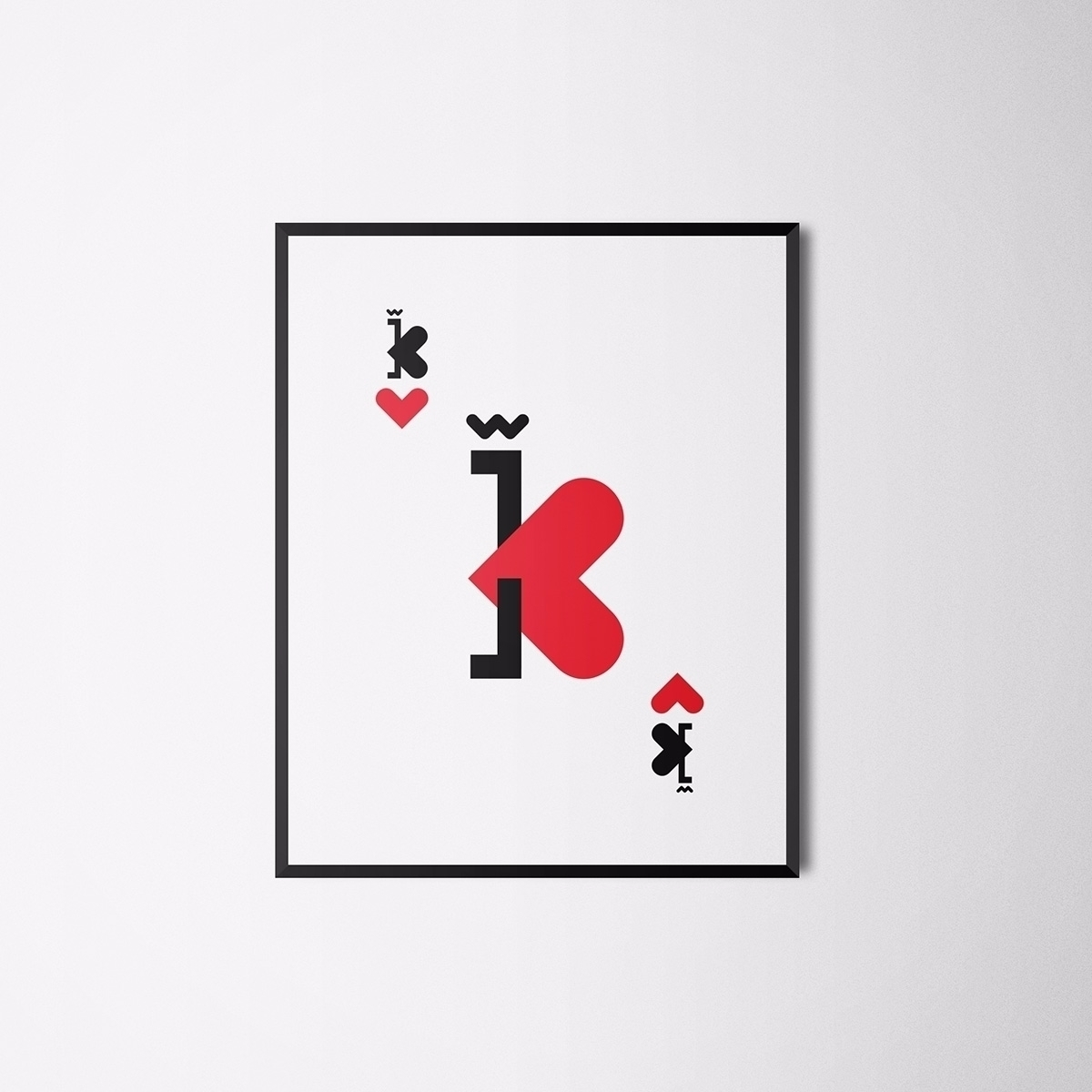 King Hearts - typography, lettering - llanwafu | ello