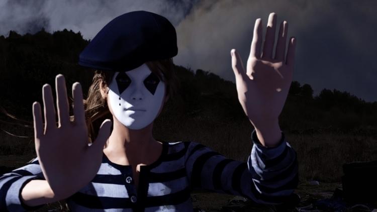 Poppy, mime girl, stopping vent - gianluca_balla | ello