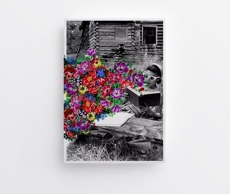 Poster Flower Power — Julien Co - juliencourtial | ello