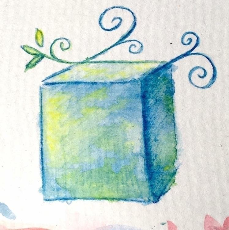 fancy cube, heh - art, drawing, illustration - borianag | ello