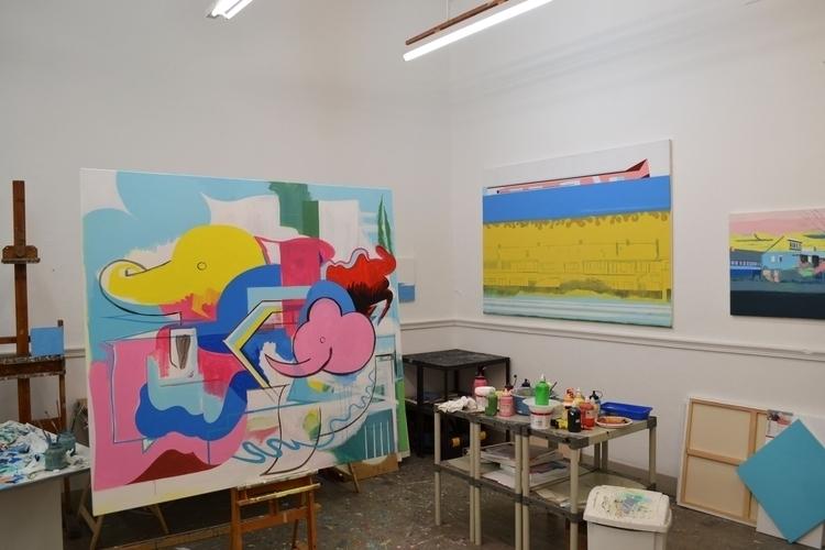 Studio View 7-3-2017 - painting - albertzwaan   ello