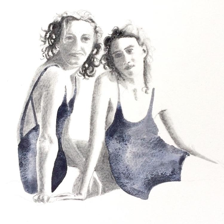 akvarell, watercolor, charcoal - vasagatan | ello