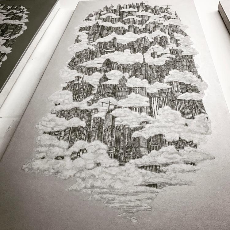 Metropolis acrylic canvas - heavenlycity - duqueart   ello