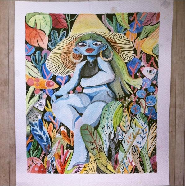 Insert fancy comment art women  - matthieu-fouquet | ello