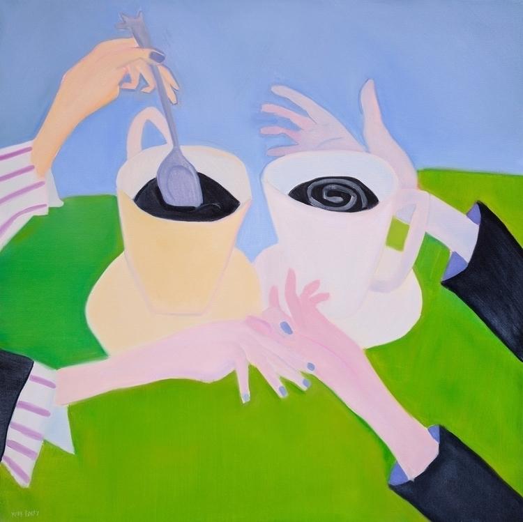 Cups oil/canvas, 44x44 - art, artists - markbarry | ello