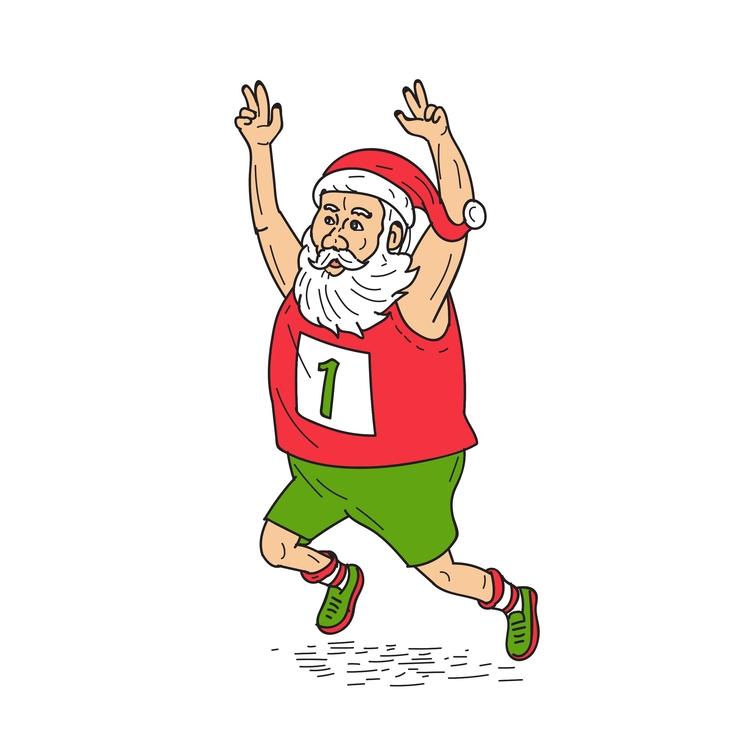 Claus Father Marathon - Santa, Christmas - patrimonio | ello