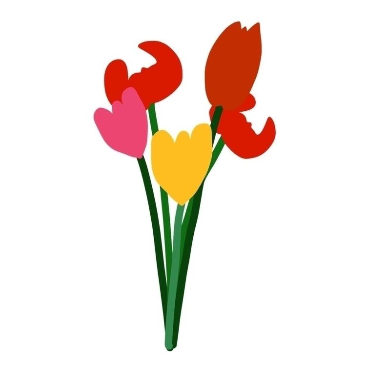 Flowers digital analog touch  - drawing - thomasblankschon | ello