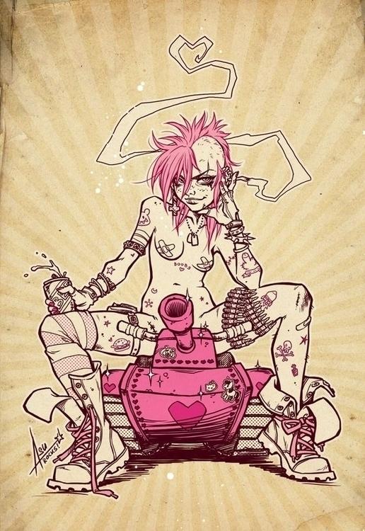 sexy, badass, tankgirl, comic - ukimalefu | ello