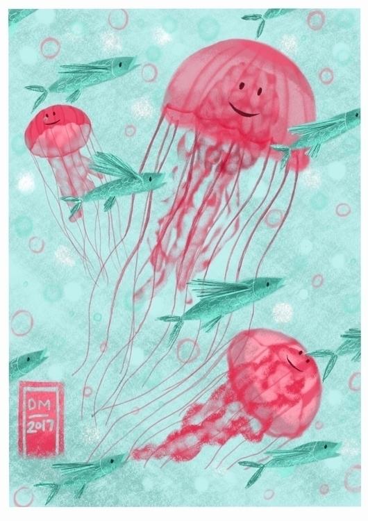 Jollyfish - illustration - doodlesmarc | ello