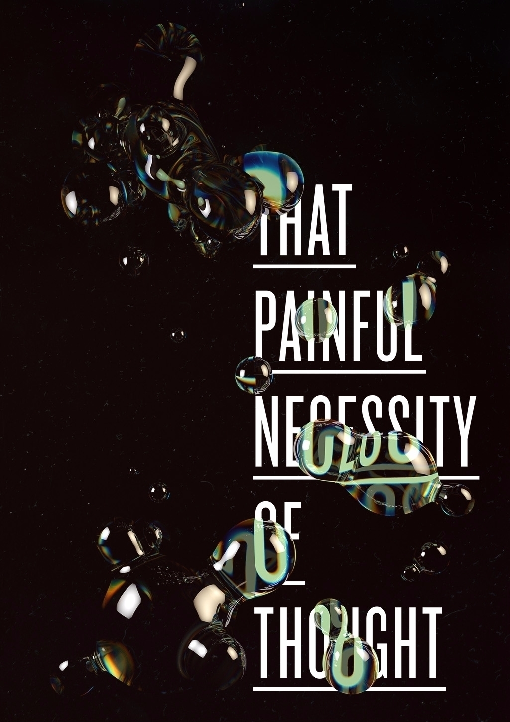 Painful Poster - poster, black, quote - molistudio | ello