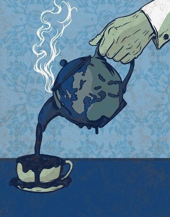 Warming Earth, Freezing Heart - illustration - thomcat23   ello