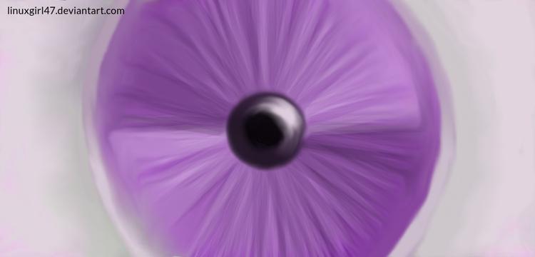 Wide Open Purple Eye - linuxgirl | ello
