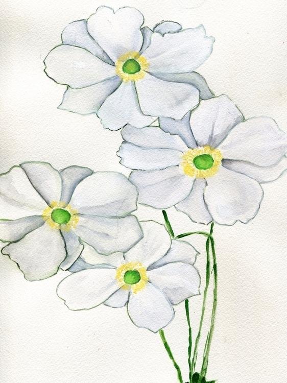 Eyes Watercolor, Gouache, Chine - havekat | ello