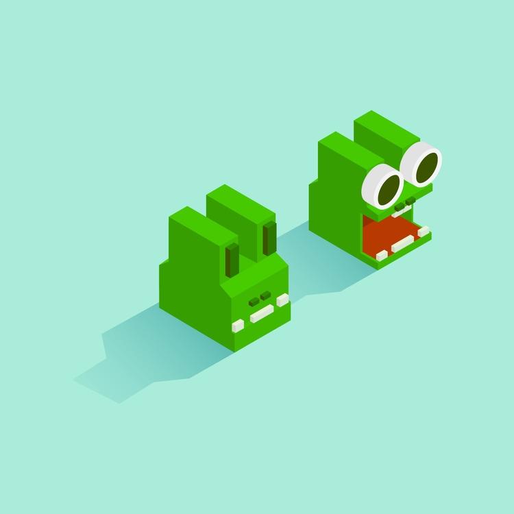 alligator? thought frog time - animal - jennyilee | ello