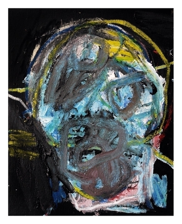 Head 10. 25x20cm, 2015 - art, hell - carpmatthew | ello