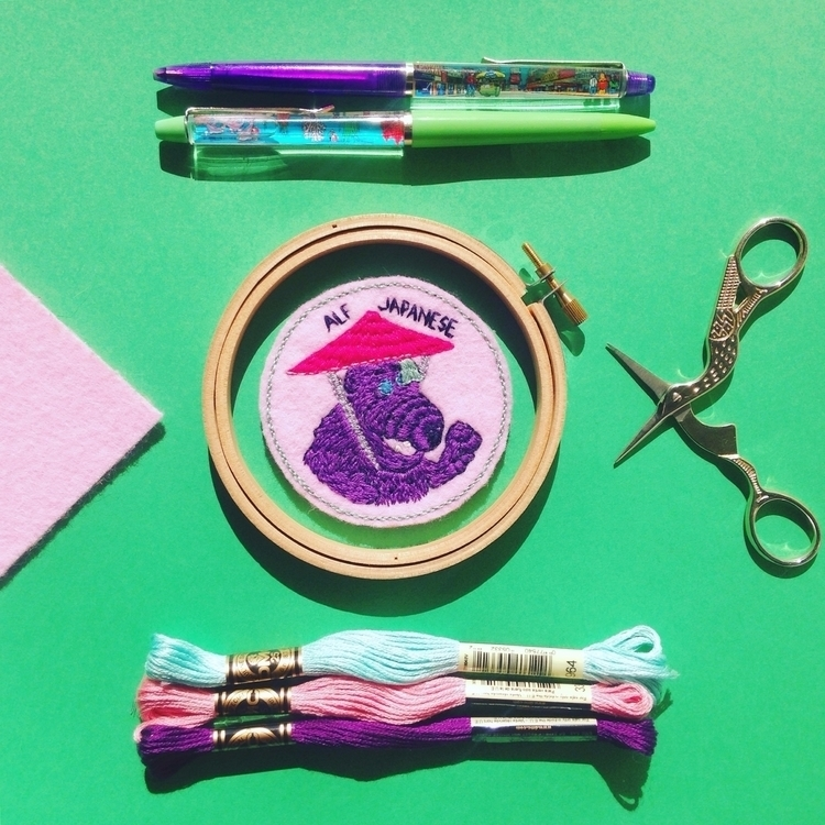 alf, embroideryart, embroideredpatch - crossthepop | ello