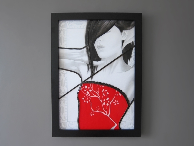 Red Blossom Stained glass, sand - neoyookai | ello