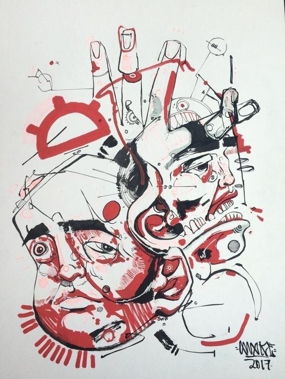 Fine 9x12 Ink paint 100$ - awake_pdx | ello