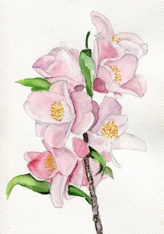 Blushing Beauties Watercolor Go - havekat | ello
