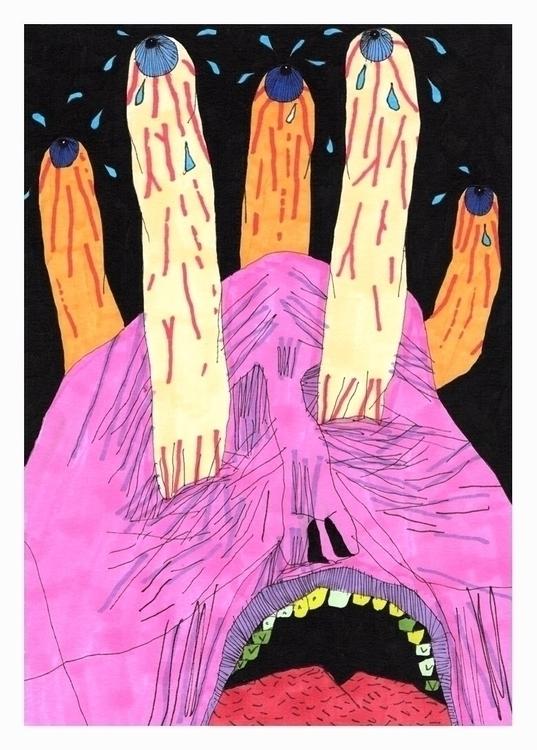 upset. A5, 2017 - art, hell, drawing - carpmatthew | ello