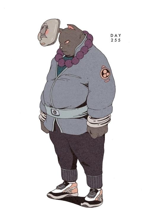 Day 255/365: Kung Fat Cat - illustration - 1sles   ello