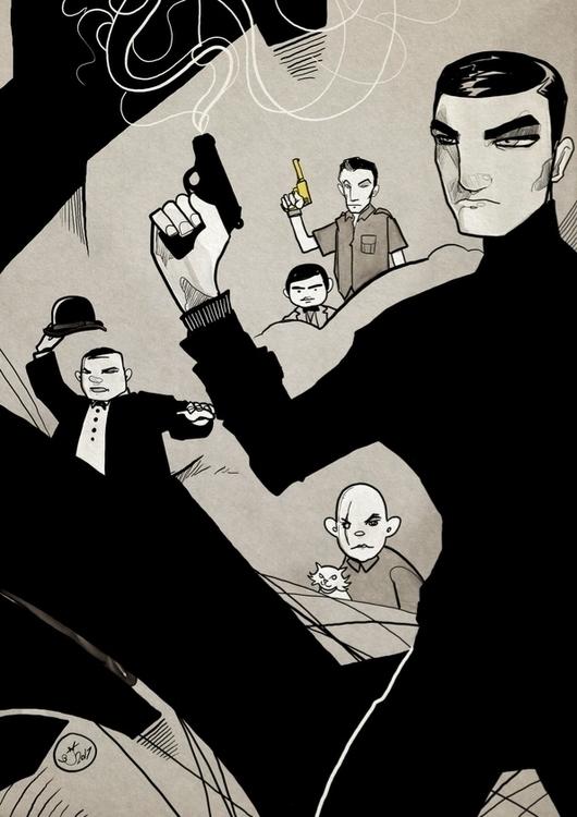 007 - illustration, artwork, art - shugmonkey | ello