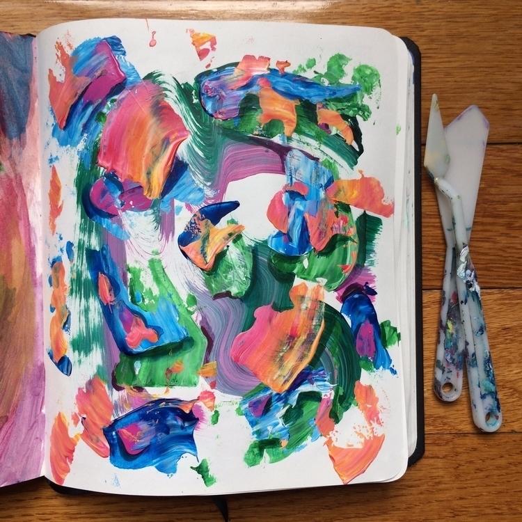 Excess paint doodle - art, wip, painting - dhuston | ello