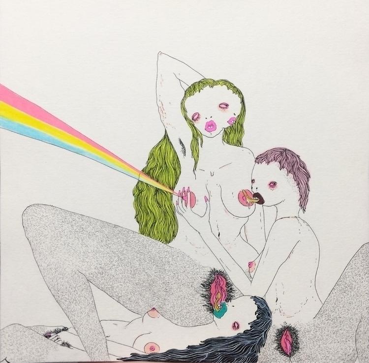 Read Lips 8x8 original drawing  - bronwynlorelei | ello
