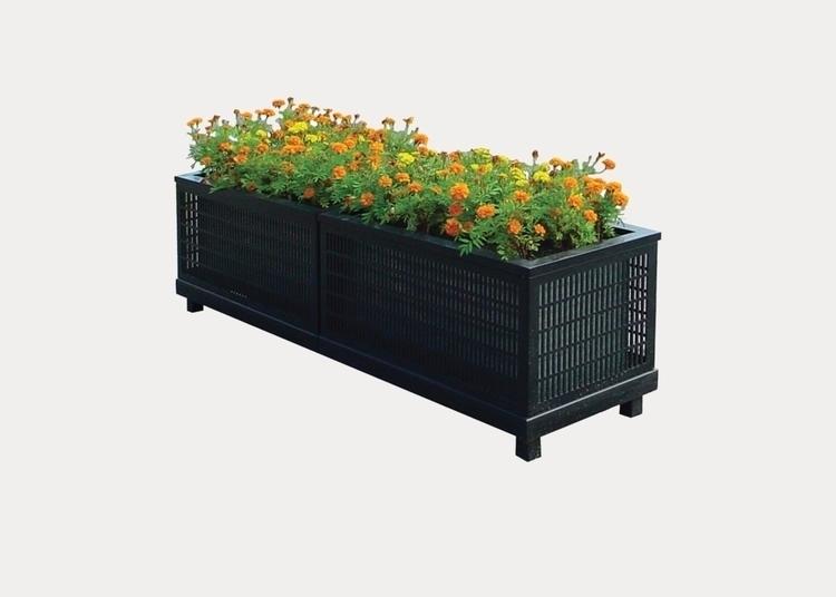 oversize square planter add war - streetfurniture | ello