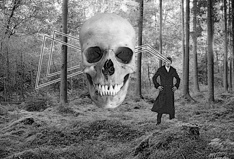 Skull Projector digital collage - w_a_davison   ello