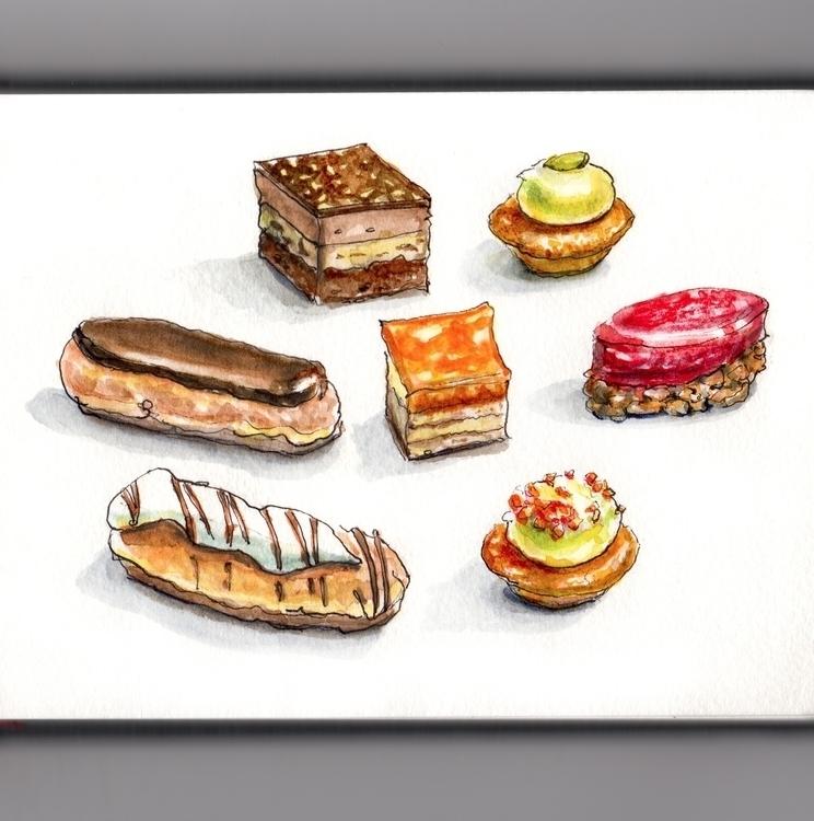 Bites - watercolor, watercolour - doodlewash | ello
